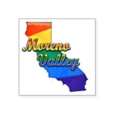 "Moreno Valley Square Sticker 3"" x 3"""