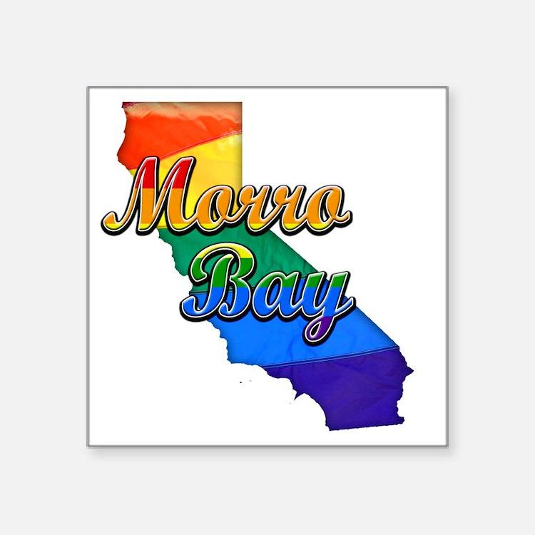 """Morro Bay Square Sticker 3"""" x 3"""""""