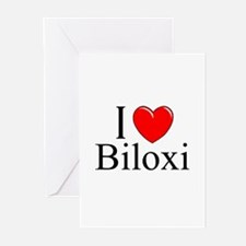 """I Love Biloxi"" Greeting Cards (Pk of 10)"