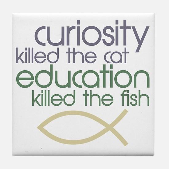 killedthefish copy Tile Coaster
