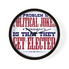 politicaljokes copy Wall Clock
