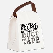 stupidduct copy Canvas Lunch Bag