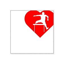 """I-Heart-Track2 Square Sticker 3"""" x 3"""""""