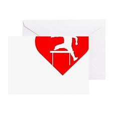 I-Heart-Track2 Greeting Card