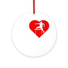 I-Heart-Track2 Round Ornament