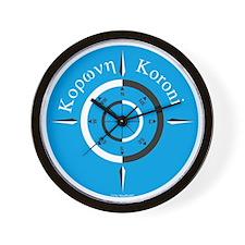 koroni-windrose-blue_mindscaper Wall Clock