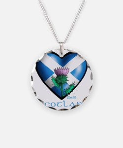 Heart and Thistle Necklace