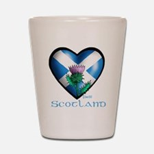 Heart and Thistle Shot Glass