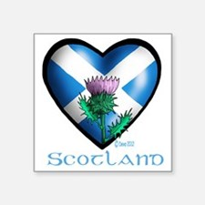 """Heart and Thistle Square Sticker 3"""" x 3"""""""