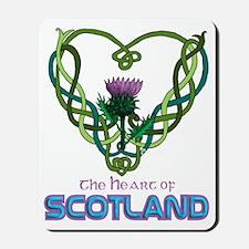 Heart Scotland Black Mousepad