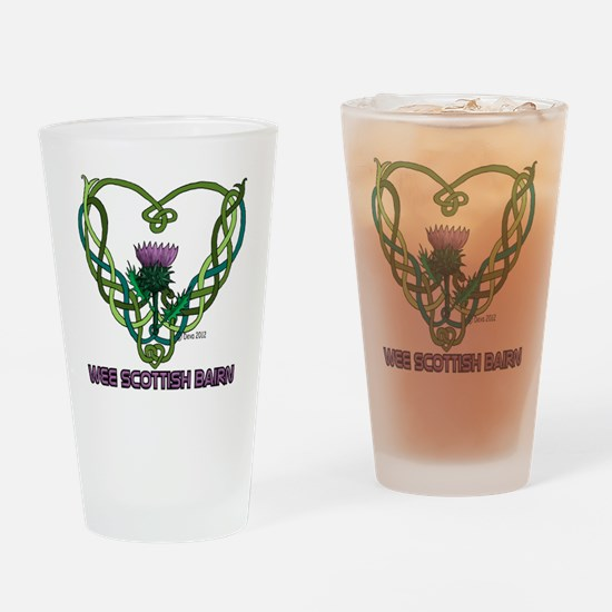 Heart Scot Bairn white Drinking Glass