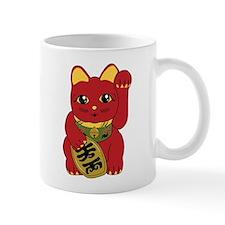 Red Maneki Neko Mug