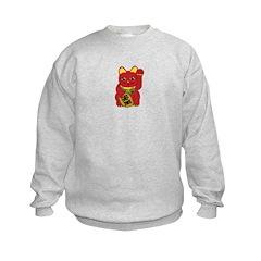 Red Maneki Neko Sweatshirt