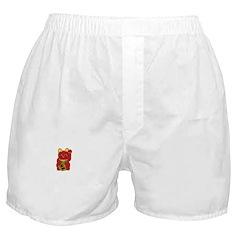 Red Maneki Neko Boxer Shorts