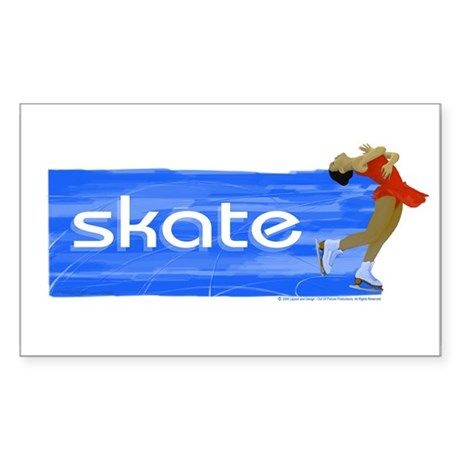 Figure Skating Layback Rectangle Sticker