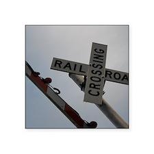 """Railroad - Tennessee Square Sticker 3"""" x 3"""""""