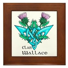 Wallace Two Thistles Framed Tile