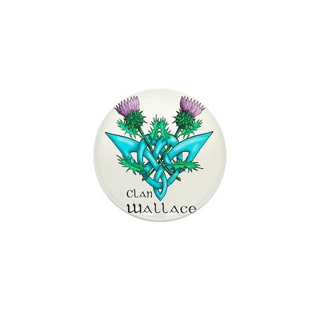 Wallace Two Thistles Mini Button