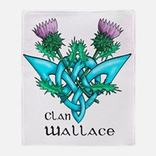 Wallace Two Thistles Throw Blanket