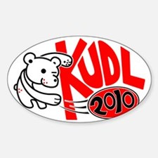 KUDLDesign10-3 Sticker (Oval)