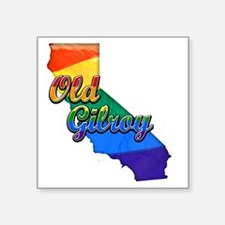 "Old Gilroy Square Sticker 3"" x 3"""