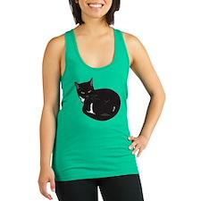 Tuxedo Cat Resting T-shirt Racerback Tank Top
