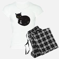 Tuxedo Cat Resting T-shirt Pajamas
