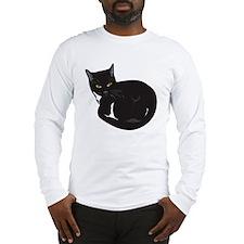 Tuxedo Cat Resting T-shirt Long Sleeve T-Shirt