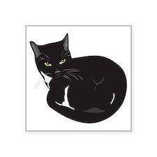"Tuxedo Cat Resting T-shirt Square Sticker 3"" x 3"""