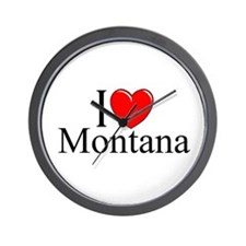 """""""I Love Montana"""" Wall Clock"""
