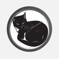Tuxedo Cat Resting T-shirt Wall Clock