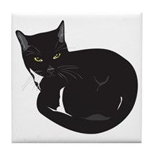 Tuxedo Cat Resting T-shirt Tile Coaster