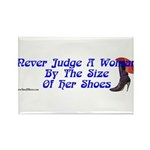 Never Judge A Woman by Her Small Shoes Rectangle M