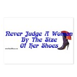 Never Judge A Woman by Her Small Shoes Postcards (