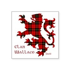 "lion Wallace Square Sticker 3"" x 3"""