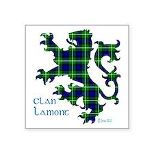 """Lion Lamont Square Sticker 3"""" x 3"""""""