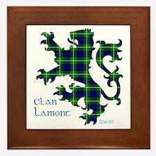 Lion Lamont Framed Tile