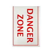 Danger Zone Right Rectangle Magnet