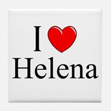 """I Love Helena"" Tile Coaster"