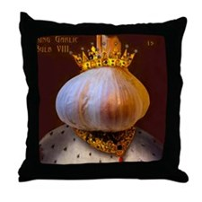 Garlic Lovers Throw Pillow