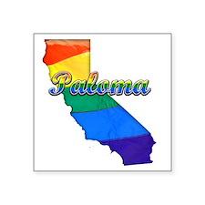 "Paloma Square Sticker 3"" x 3"""