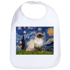 Starry Night Himalayan cat Bib
