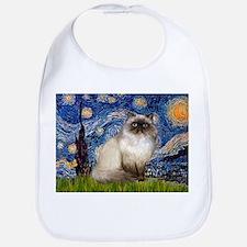 Starry Night Himalayan cat Bib