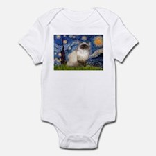 Starry Night Himalayan cat Infant Bodysuit