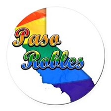 Paso Robles Round Car Magnet