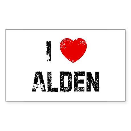 I * Alden Rectangle Sticker