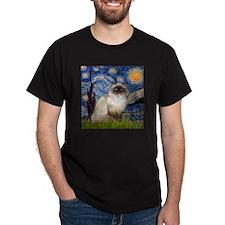 Starry Night Himalayan cat T-Shirt