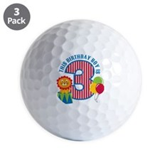 Circus3rdBirthday Golf Ball