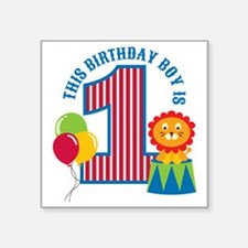 "Circus1stBirthday Square Sticker 3"" x 3"""