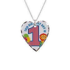 Circus1stBirthday Necklace Heart Charm